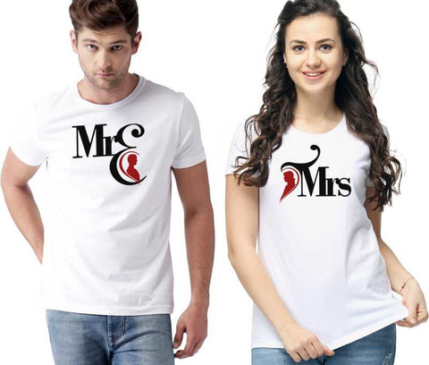 Graphic Print Men & Women Round Neck White T-Shirt - Ambitionmart