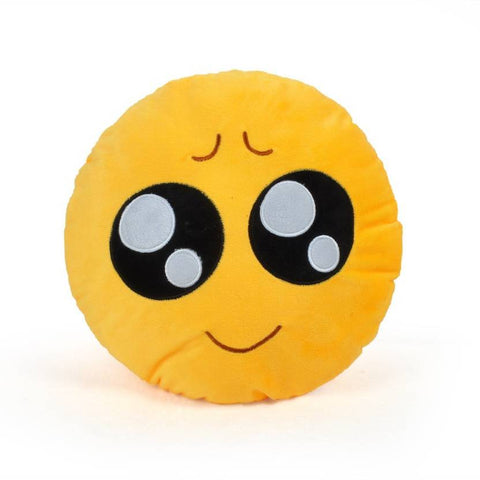 Ejebo Pleading Face Smiley Decorative Cushion - Ambitionmart