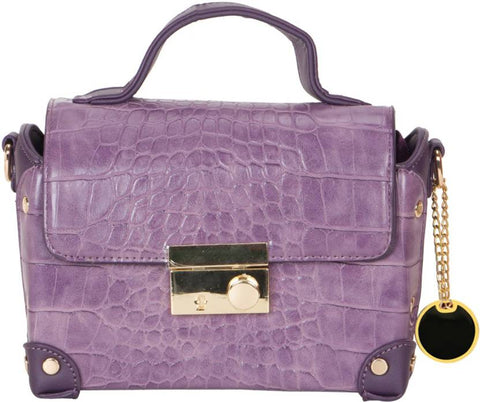 Ejebo Girls Purple Leatherette Sling Bag - Ambitionmart