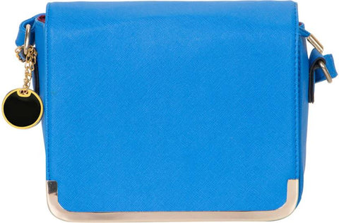 Ejebo Girls Blue Leatherette Sling Bag - Ambitionmart