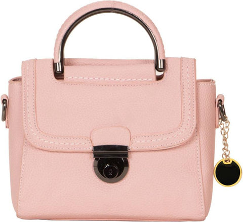 Ejebo Girls Pink Leatherette Sling Bag - Ambitionmart