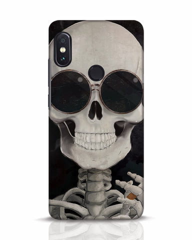 Smoking Skull Xiaomi Redmi Note 5 Pro Mobile Cover - Ambitionmart