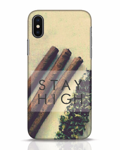 Stay High iPhone X Mobile Cover - Ambitionmart