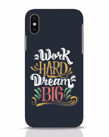 Work Hard iPhone X Mobile Cover - Ambitionmart