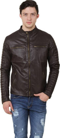Ejebo Full Sleeve Solid Brown Men's Jacket - Ambitionmart