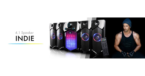 Zebronics INDIE 4.1 Multimedia Bluetooth Speaker System - Ambitionmart