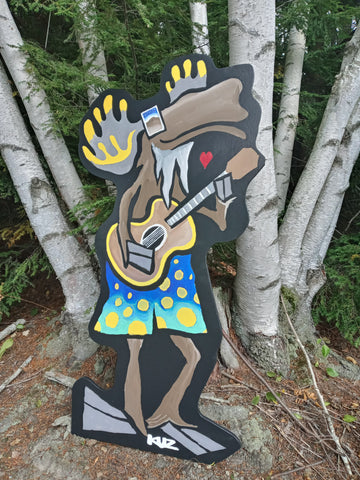 Finished Four Foot Tall Groovy Moose