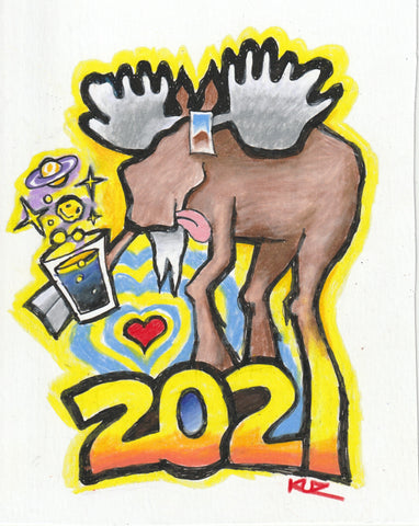 2021 Cosmic Moose Celebrating a New Year