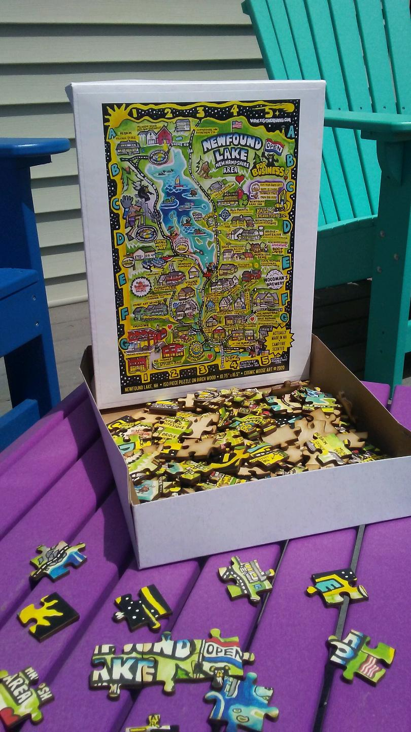 Newfound Lake Wooden Puzzle