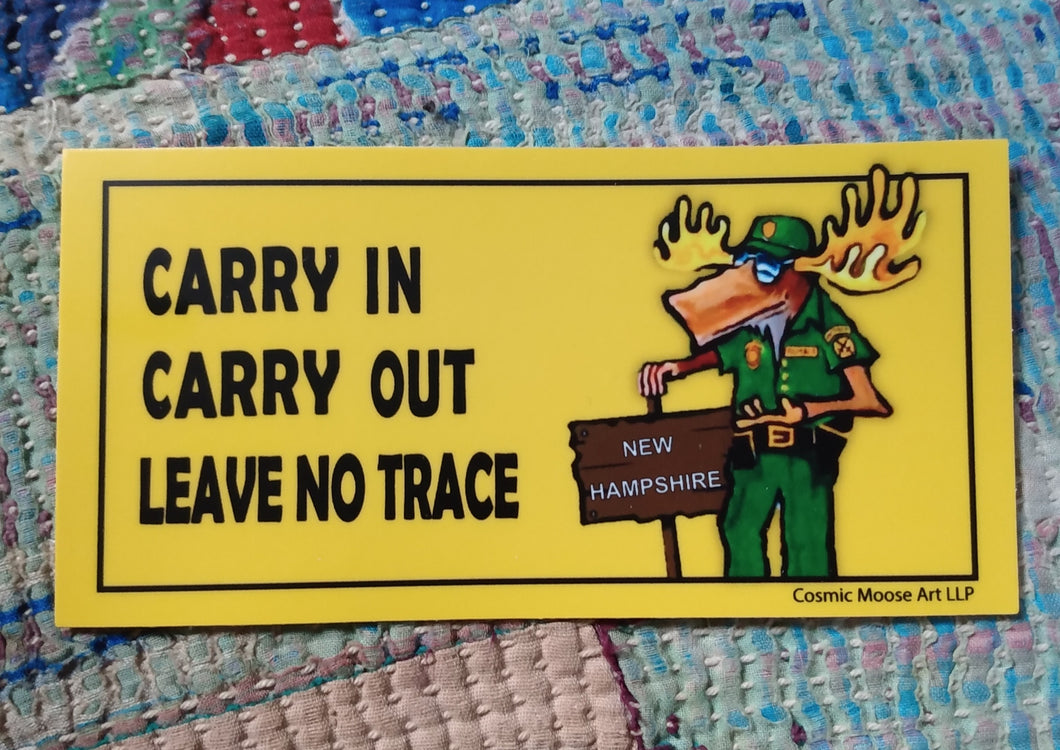 Carry In Carry Out Leave No Trace Sticker