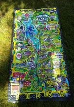 Newfound Lake Map Towel