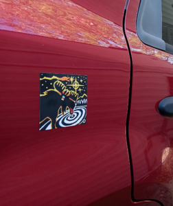Cosmic Moose Car Magnet