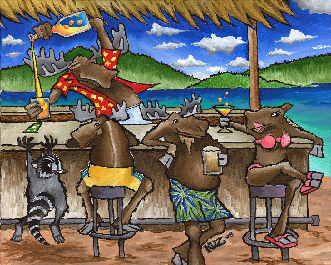 Tiki Bar By Cosmic Moose Art