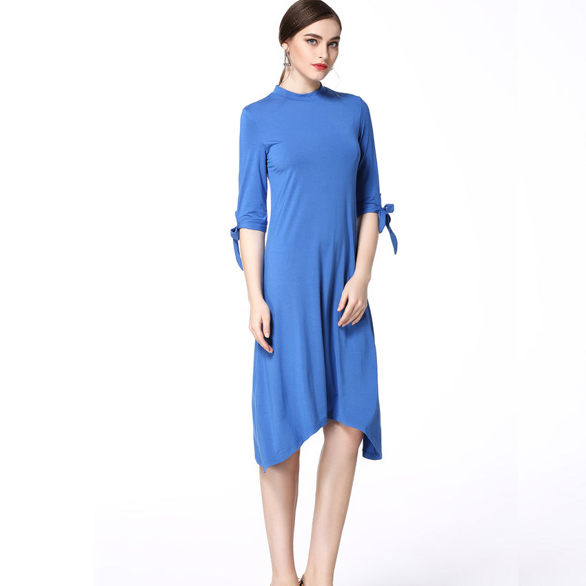 Bow Tie Sleeve Dress 2633B - MissFinchNYC, modest, modest clothing, trendy modest clothing, modest apparel, modest fashion, tznius clothing, tzinuis fashion
