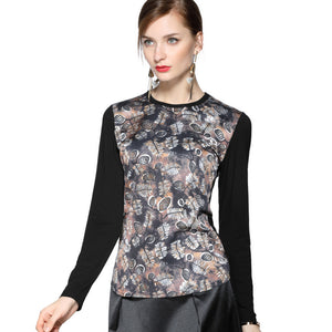 Abstract Pine Cone Long Sleeve T 2686B - MissFinchNYC