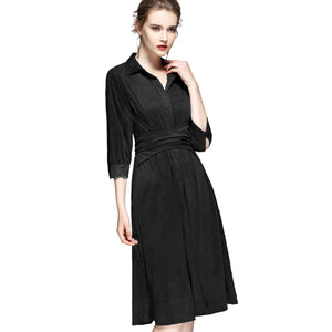 Collared Wrap Dress 2699 - MissFinchNYC, modest, modest clothing, trendy modest clothing, modest apparel, modest fashion, tznius clothing, tzinuis fashion