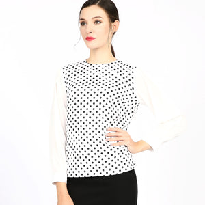 Tone on Tone Polka Dot Top 2759W - MissFinchNYC