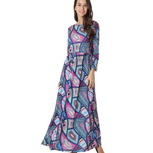 Fun Print Maxi Dress 2766 - MissFinchNYC, modest, modest clothing, trendy modest clothing, modest apparel, modest fashion, tznius clothing, tzinuis fashion