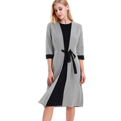 Faux Jacket Dress 2785 - MissFinchNYC, modest, modest clothing, trendy modest clothing, modest apparel, modest fashion, tznius clothing, tzinuis fashion
