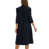 Coat Dress Black 2796B - MissFinchNYC, modest, modest clothing, trendy modest clothing, modest apparel, modest fashion, tznius clothing, tzinuis fashion
