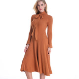 Knit Ochre Dress 2797O - MissFinchNYC, modest, modest clothing, trendy modest clothing, modest apparel, modest fashion, tznius clothing, tzinuis fashion