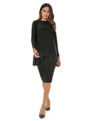 Round Neck asymmetrical Tunic 2801
