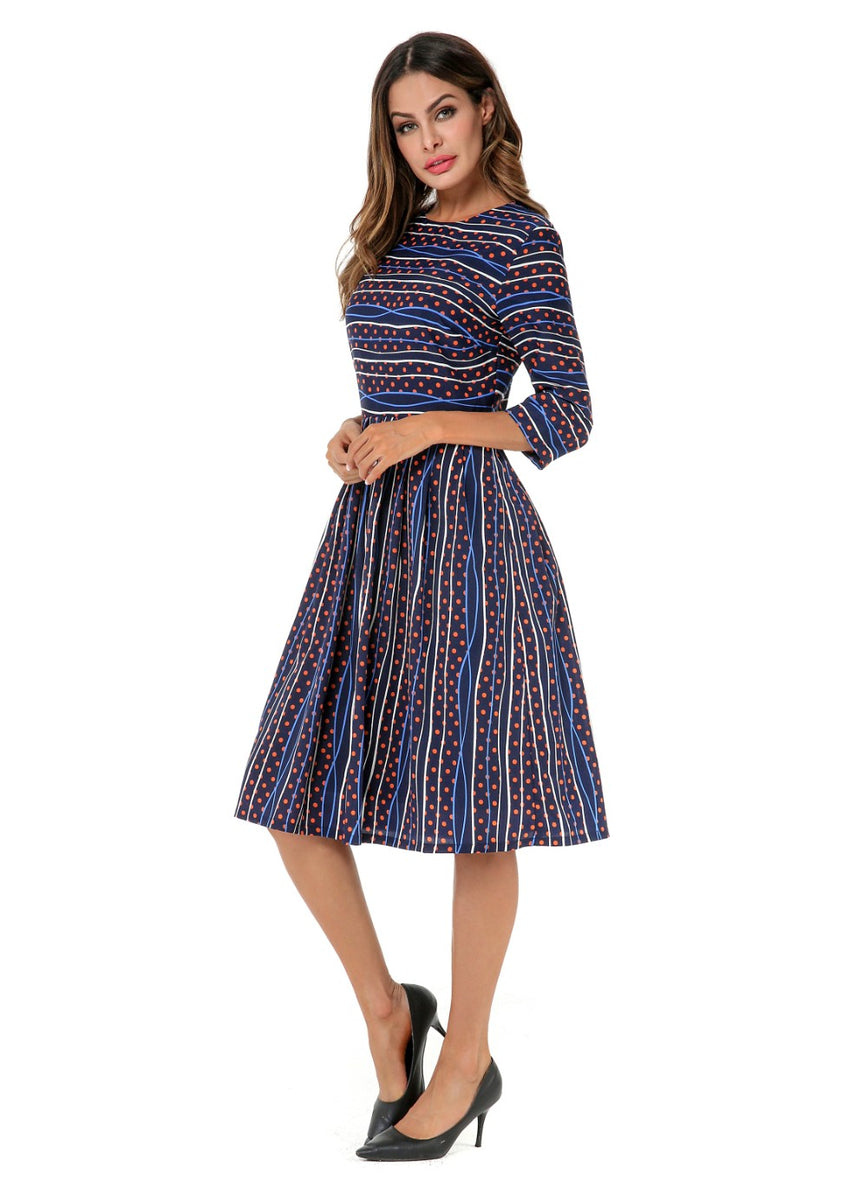 Print Modest Dress 2803 - MissFinchNYC