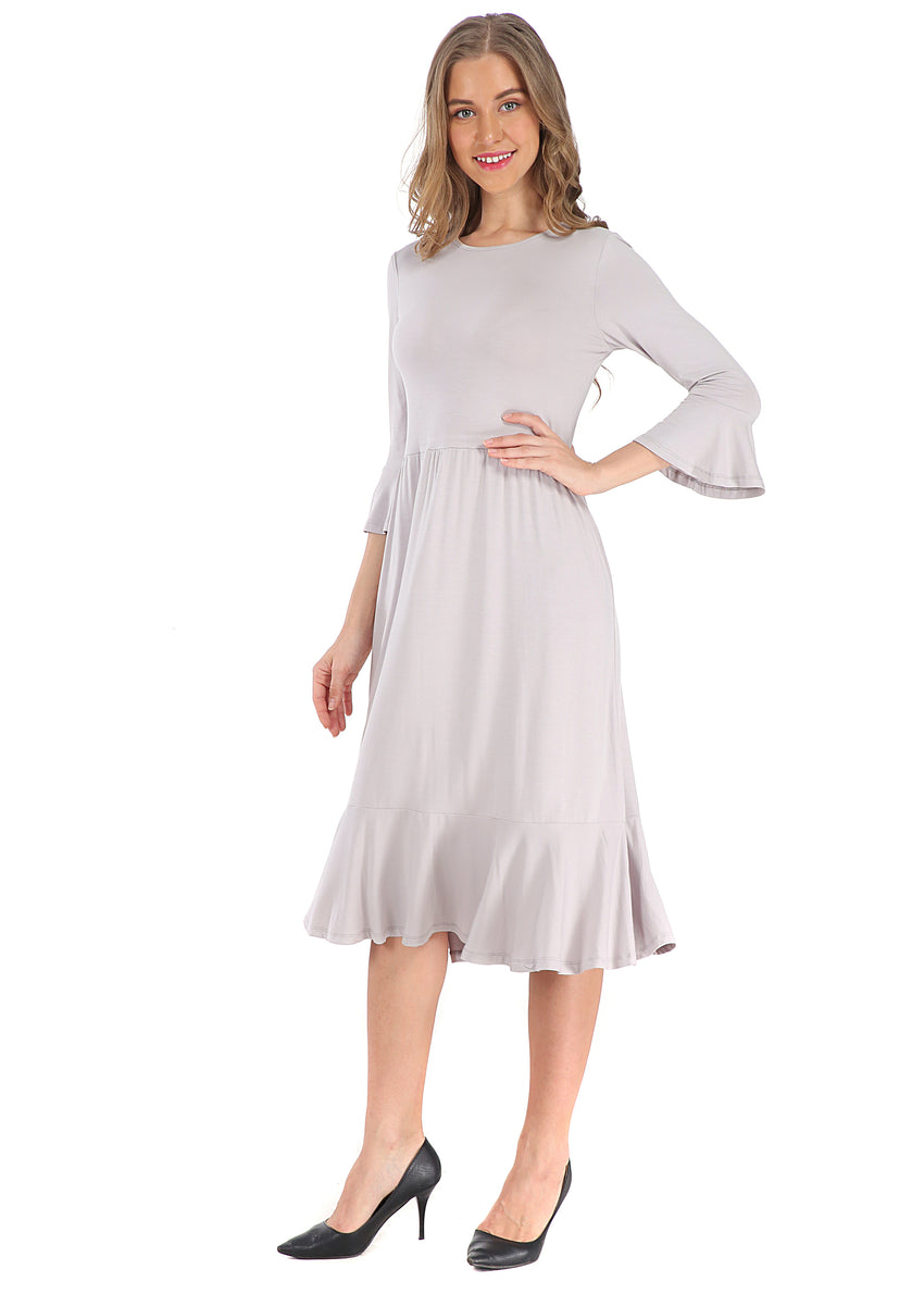 Modest Silver Casual dress