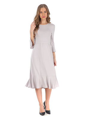 Modest Silver Casual dress 2807S