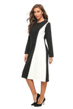 Modest Black & White Sheath Dress 2899 - MissFinchNYC