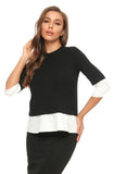 Elegant Faux 2 pc. 3/4 Sleeve T. Shirt Top 2908
