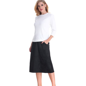 A Line Ultra Pocketed Skirt 2790b - MissFinchNYC, modest, modest clothing, trendy modest clothing, modest apparel, modest fashion, tznius clothing, tzinuis fashion