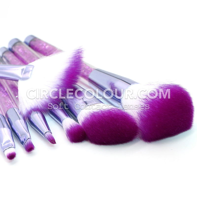 Flash Crystal Makeup Brushes B02062