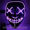 Scary LED Light Up Mask - Purple B01249