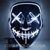 Scary LED Light Up Mask - White B01240