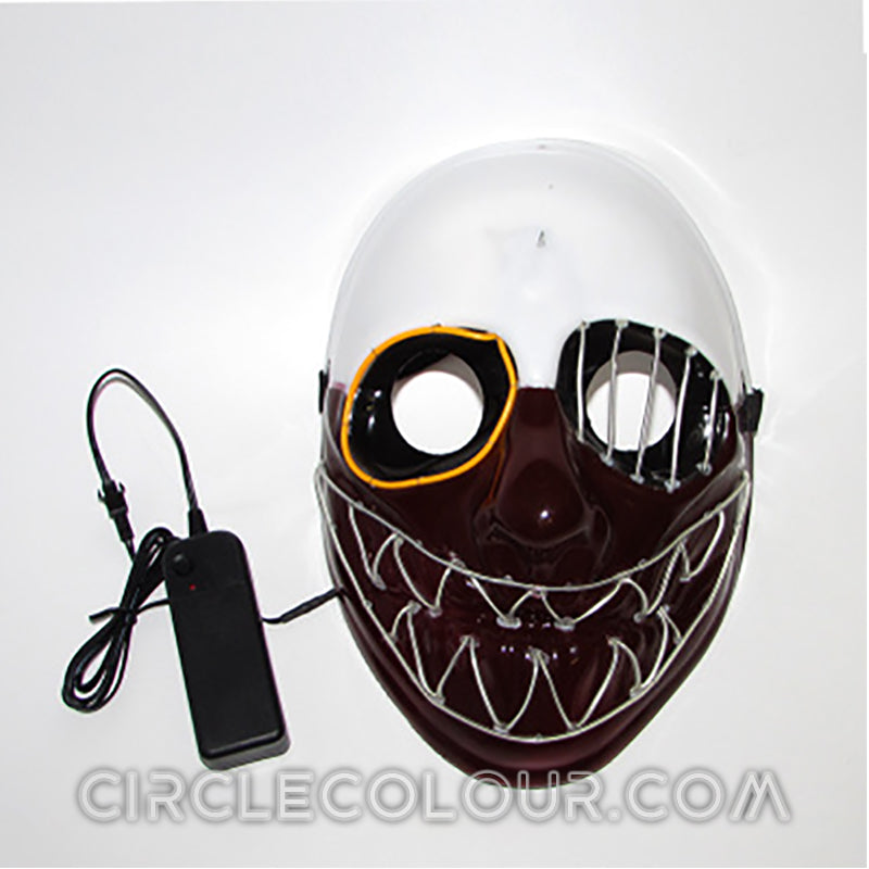 One-Eyed Sawtooth LED Light Up Mask-Clear Blue B01260