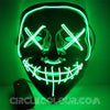 Scary LED Light Up Mask - Green B01243