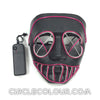 Party LED Light Up Mask - Purple B01255