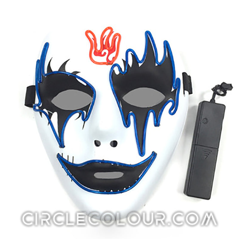 Ghosts LED Light Up Mask - Clear Blue B01259