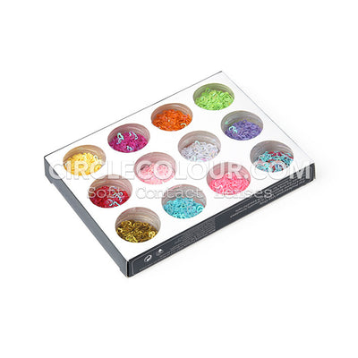CircleColour Eye Makeup Sequins Hollow Love B02144