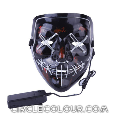Scary LED Light Up Mask - Light Blue B01241