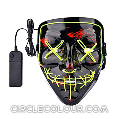 Scary LED Light Up Mask - Light Green B01248