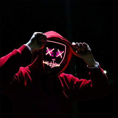 Scary LED Light Up Mask - Pink B01244