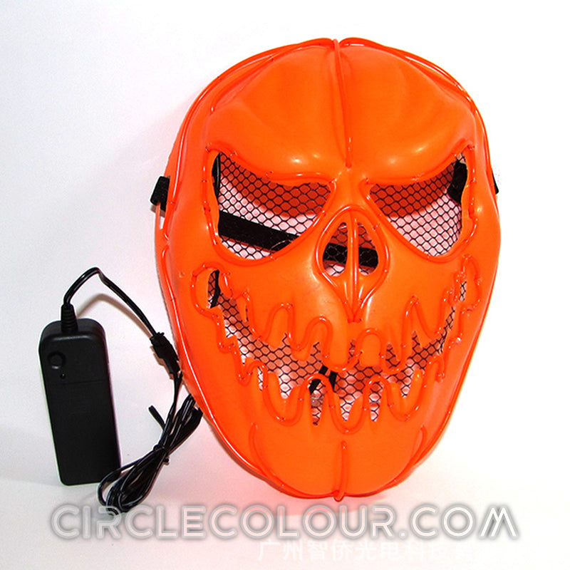 Pumpkin Head LED Light Up Mask - Orange B01257