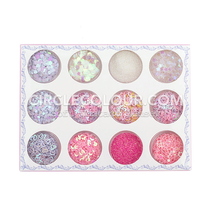 CircleColour Eye Makeup Sequins Suit 4 B02151