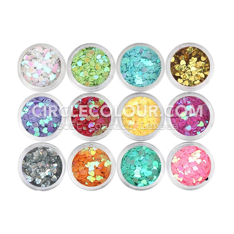 CircleColour Eye Makeup Sequins Solid Love B02145