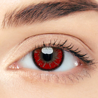 CircleColour® Soft Eye Circle Lens Toric Akashi Seijuro Red Cosplay Colored Contact Lenses M0111