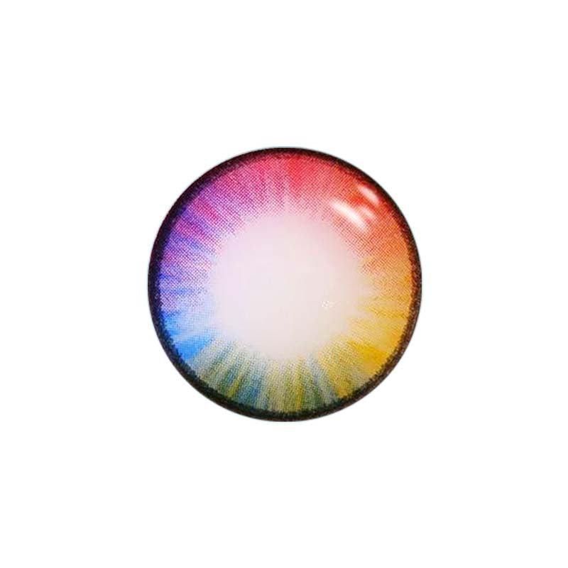 CIRCLECOLOUR® Soft Eye Circle Lens Rainbow Mary Sue Dream Colored Contact Lenses M01282