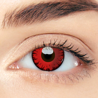 CircleColour® Soft Eye Circle Lens Radiance Red Cosplay Colored Contact Lenses M0380