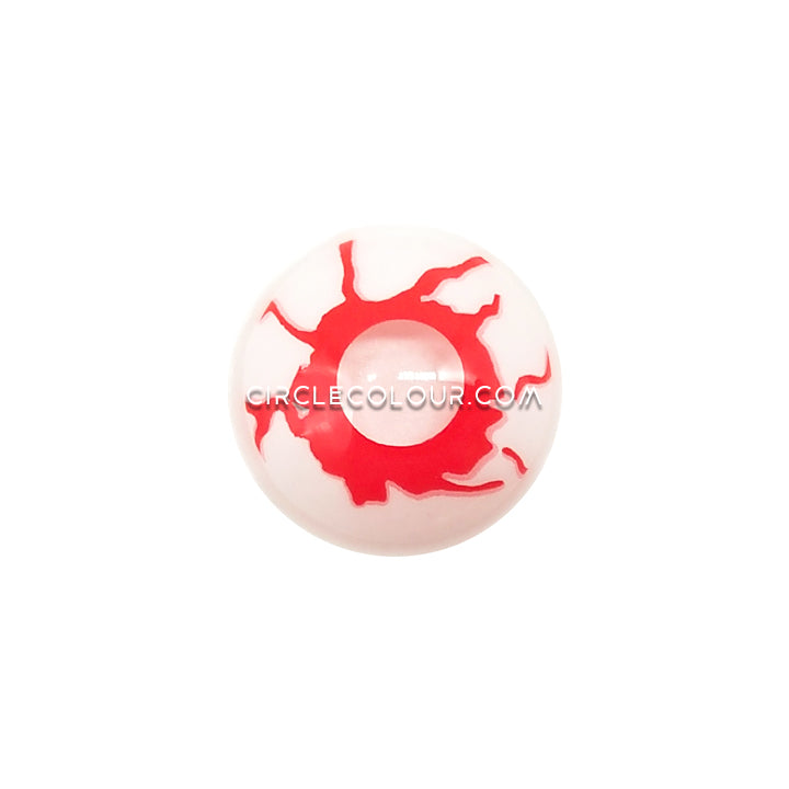 CircleColour® Soft Eye Circle Lens Red Bloodshot White Red Cosplay Colored Contact Lenses M005